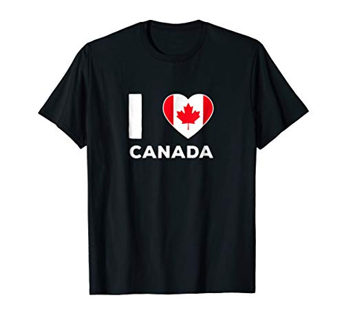 I Love Canada Independence Day T-shirt Canadian Heart Gifts