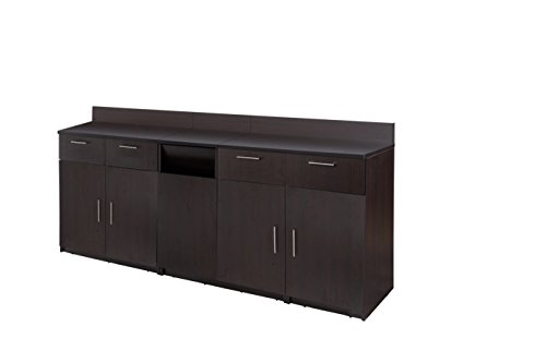 Coffee Break Lunch Room Furniture FULLY ASSEMBLED ''Ready-To-Use''  3pc Group BREAKTIME Model 2724 - Elegant Espresso Color ... INSTANTLY create your new Coffee Break Lunch Room!!! by Breaktime