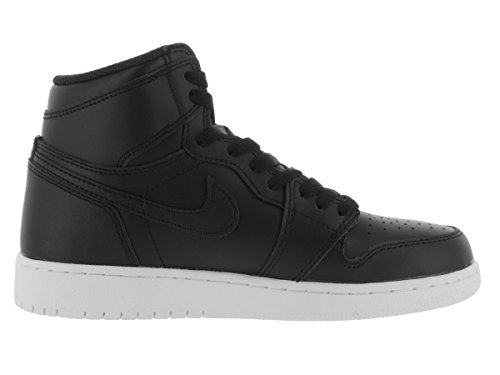 Nike Heren Air Jordan 1 Mid Basketbalschoen Zwart / Zwart-wit