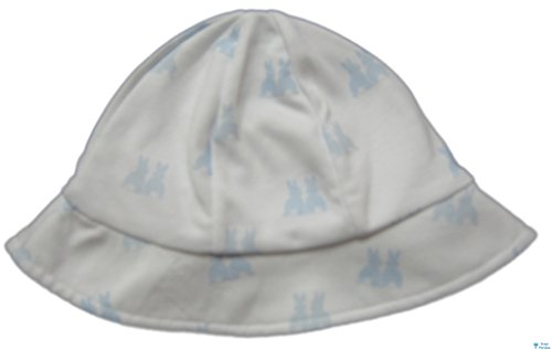 (Kissy Kissy Baby-Boys Infant Cottontail Duo Print Sunhat-White With Blue-Medium)