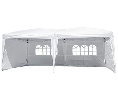 Party Tent PopUpCanopy, 10x20 Canopy Sun EZ Up Canopy Tent Instant Folding Canopy W/Carrying Bag Waterproof