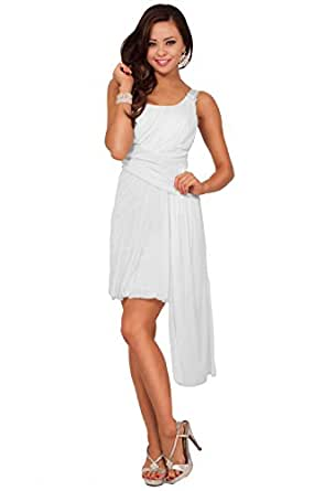 One Shoulder Style Drape Bubble Skirt Sash Accent Evening Bridesmaid Party Dress