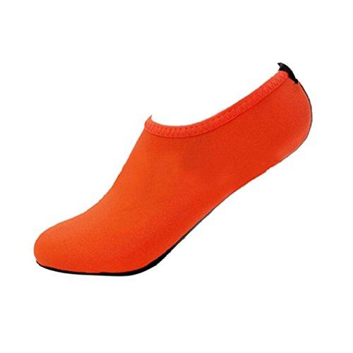 Ammazona Uomini Donne Yoga Surf Spiaggia Snorkeling Calze Nuoto Calzini Da Immersione Nuotare Scarpe Arancione