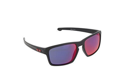 Oakley Men's Sliver OO9262-10 Polarized Iridium Rectangular Sunglasses, Matte Black, 57 - Safety Glasses Oakley