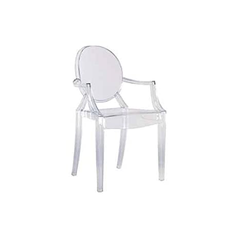 Round Back Armchair In Clear