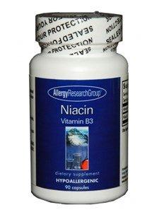 Allergy Research Group Niacin Vitamin B3 250 mg 90 Veg Caps (Acid 250 Mg 90 Caps)