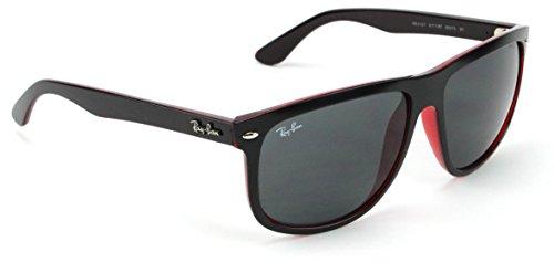 6268019dc9b Amazon.com  Ray-Ban RB4147 617187 Sunglasses Matte Black On Transparent Red    Dark Grey Lens 56mm  Shoes