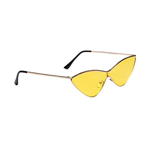 Rétro En Unisexe Style Décontracté Triangle Soleil Jaune De Sunglasses  Lunette MagiDeal Mode wpI0qa4pO ... 5dc82b49c10d