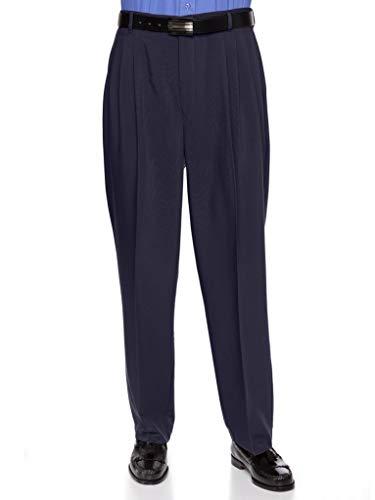RGM Mens Dacron Rayon Pleated Front Dress Pants
