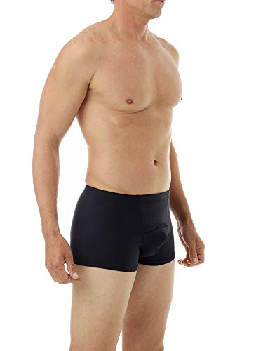 Underworks Microfiber Light Compression Boxers Large Black