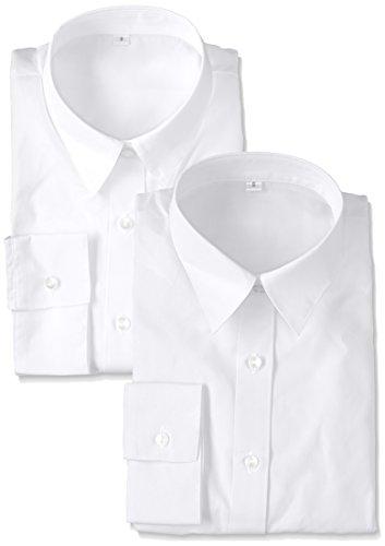 [セシール] シャツ 形態安定レギュラーカラーシャツ(7分袖?2枚組セット) AX-287 レディース