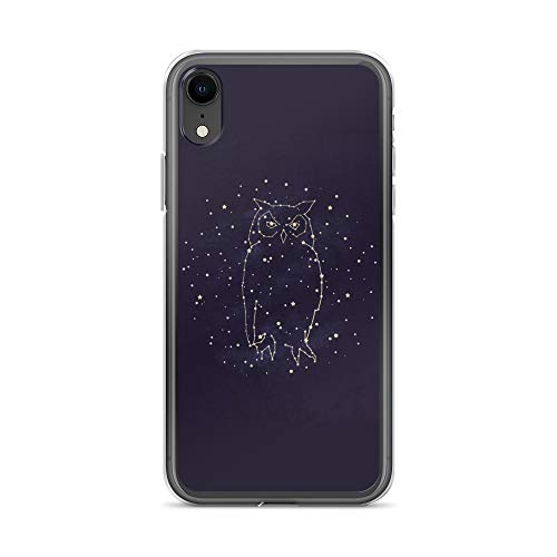 iPhone XR Case Anti-Scratch Creature Animal Transparent Cases Cover Owl Constellation Animals Fauna Crystal Clear]()