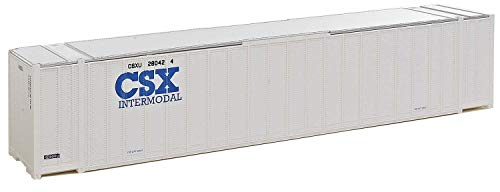 Container Intermodal - Walthers, Inc. Assembled CSX Intermodal Ribbed Side Container, 48', White/Blue