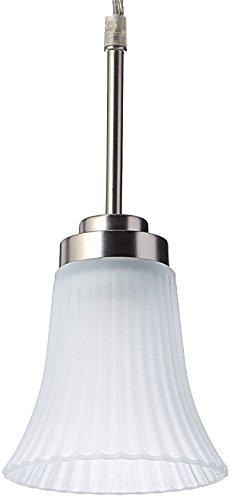 - Lite Source Inc Source LS-19941SS/FRO Bendek 1-Lite Pendant Lamp, Satin Steel