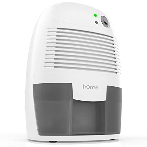 hOmeLabs Portable Small Dehumidifier for 150 sq ft Bathroom or Closet - 16 oz Capacity Quiet Mini Compact Thermoelectric Energy Star Dehumidifier Air Purifier - Auto Shut Off 25W ETL Certified Adapter