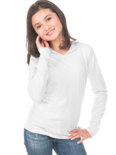 - Kavio! Youth Long Sleeve Pullover Hoodie White L