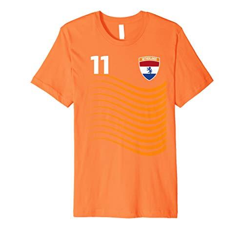 Netherlands Soccer Jersey Womens World 2019 Cup France Premium T-Shirt