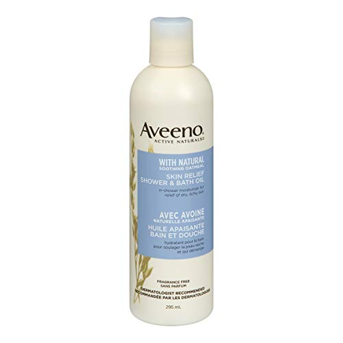 - Aveeno skin relief shower & bath oil 10 oz