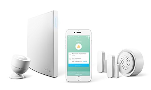 Wink Lookout Smart Security Starter Kit with Wink Hub 2, Motion Sensor, Siren & Chime, Door/Window Sensors