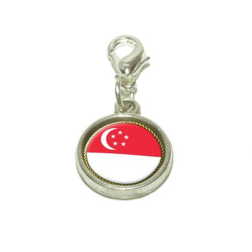 Flag Of Singapore Dangling...