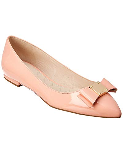 Bow Skimmer - Cole Haan Women's Tali Bow Skimmer Coral Patent Flat Shoes 7