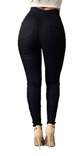 Pants LooBoo Waisted for Women Pants Black Pencil Skinny Curve Jeans Jeggings Stretch High Leggings qXqfw5rxz