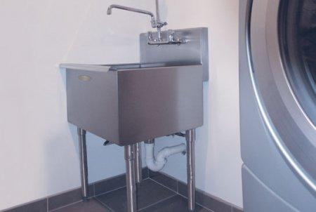 Amazon.com: Heavy Gauge Stainless Steel Utility Laundry Room Sink