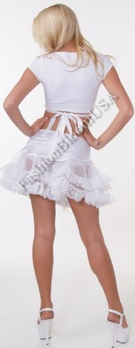Plus Size Tulle Lace and Ruffles Petticoat