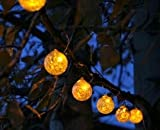 Aurora Glow Solar String Lights (Amber)