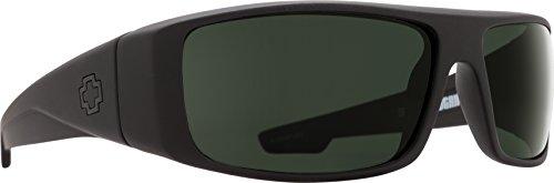 Spy Optic Logan 670939973863 Wrap Sunglasses, 60 mm (Soft Matte Black/Happy ()
