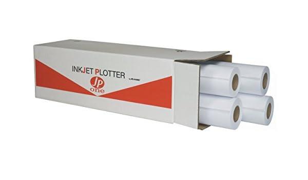 Papel Plotter Semi Blanca jp-one 60 gr caja 4 rollos 91,4 x 50: Amazon.es: Oficina y papelería