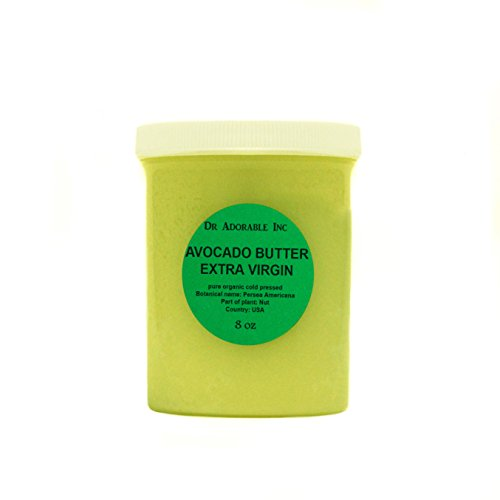(Avocado Butter Extra Virgin Unrefined by Dr.Adorable Pure Raw 8 Oz)