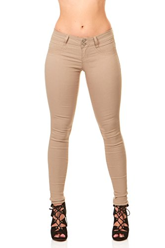 Ultra Skinny Cigarette Butt Lift  Slim Fit Extra Stretch Junior pants Jeans Size 7 in Khaki ()