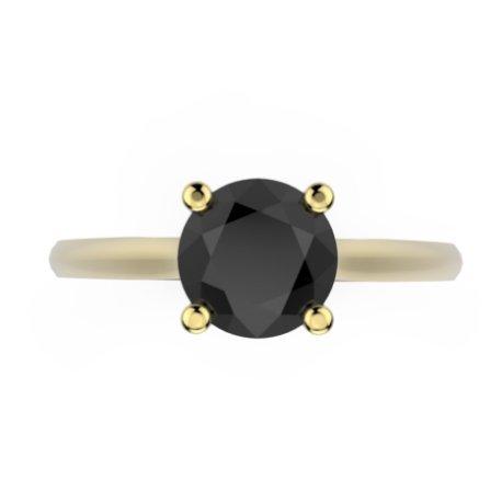 AVANI Bagues Or Blanc 18 carats Diamant Noir 0,8 Rond