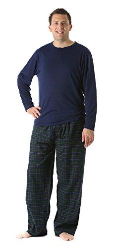 (FollowMe 44911-8-XL Pajama Pants Set for Men/Sleepwear/PJs, X-Large, Plaid 8)