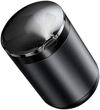蓋付きの車の灰皿は、多目的車アッシュ貯蔵タンクは、LEDライト洗える車オフィスユニバーサルフリップ (Color : グレー)