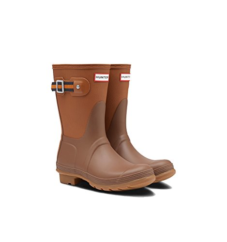 Hunter Women's Original Sissinghurst Short Rain Boots (8 M US, Soil/Red Clay/Marigold)