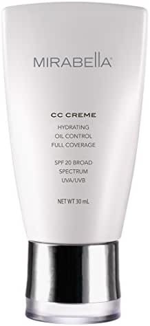 Mirabella CC Creme Hydrating, Oil Control, Full Coverage with SPF 20 - Light (Fitz II), 30ml