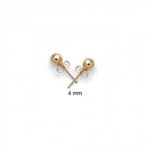 Hollow Ball Earrings - Hollow Kids Round Ball Stud earrings 14K Gold 4mm