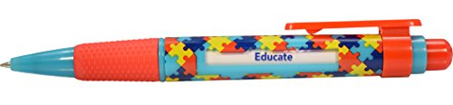 Autism Awareness Message Pen with 6 Inspirational Messages