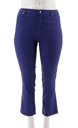 Liz Claiborne Ladies Jeans - Liz Claiborne Hepburn Slim Leg Colored Jeans A240263, Pigment Blue, 16P