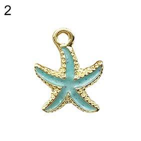 Maserfaliw Earrings 10Pcs Ocean Conch Seashell Starfish Pendant Charms Handmade DIY Jewelry Making - Random Color Starfish