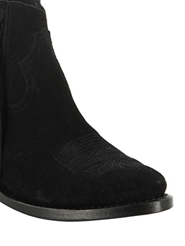 Golden Goose Women's G29WS292C2 Black Suede Ankle Boots cheap sale pay with paypal XQlQkA