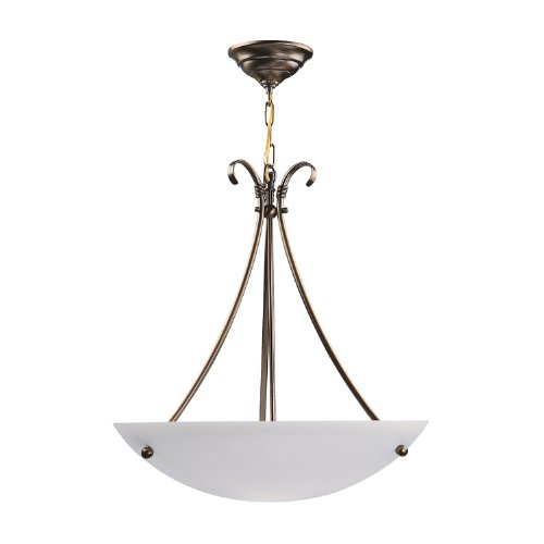 DVI DVP3205SN 3 Light Georgian Bowl Large Pendant ()