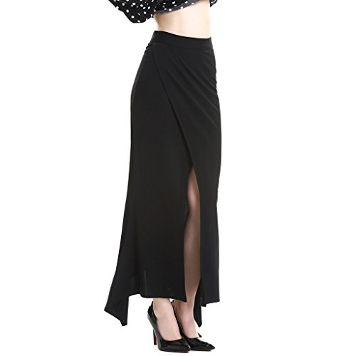 Mujeres de alta cintura l¨¢piz tobillo longitud falda Negro