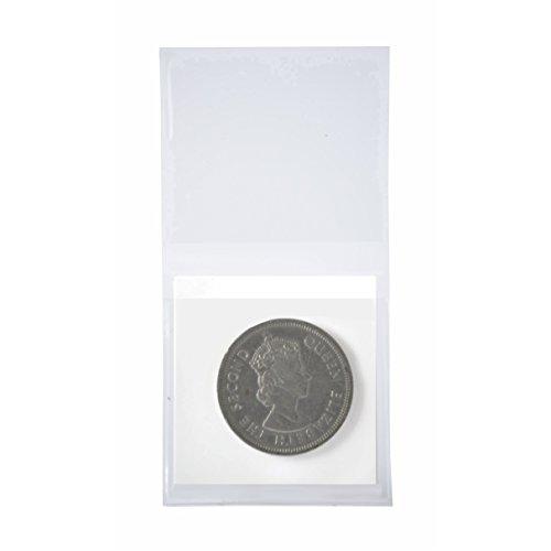 (100 Pcs Double Pocket Vinyl Coin Flips For Storag 2x2 PVC Free Plastic Holders New)
