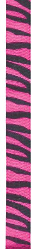 Offray Jungle Zebra Animal Print Craft Ribbon, 5/8-Inch Wide by 25-Yard Spool, Hot ()