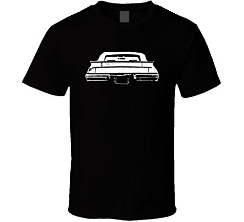 CarGeekTees.com 1971 Convertible Pontiac Lemans Rear View Dark Shirt L Black