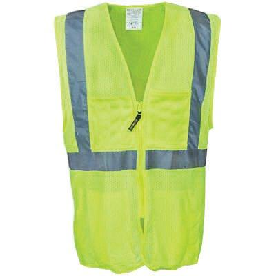 OccuNomix 2X - 3X Hi-Viz Orange OccuLux® Classic Economy Light Weight Polyester Mesh Class 2 Surveyor's Vest With Front Zipper Closure And 3M Scotchlite 2