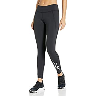 Reebok Training Supply Lux Tight 2.0, Black/White, X-Small